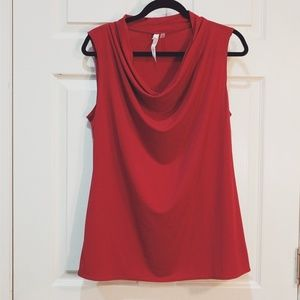 NY Collection Red Tank Top